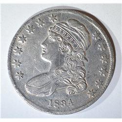 1834 BUST HALF DOLLAR CH AU MARKS