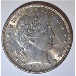 1901 BARBER HALF DOLLAR CH BU