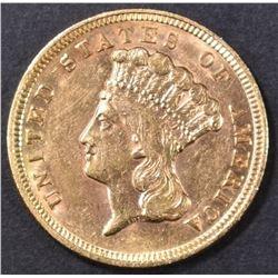 1854 $3 GOLD INDIAN PRINCESS  AU