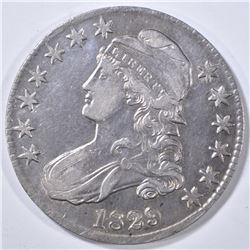 1829 DRAPED BUST HALF DOLLAR AU