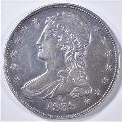 1839-O BUST HALF DOLLAR CH AU SCARCE DATE