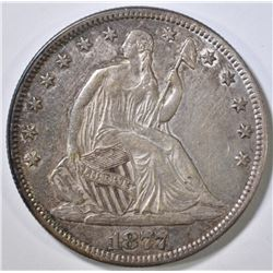 1877 SEATED LIBERTY HALF DOLLAR AU
