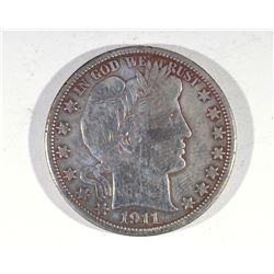 1911 BARBER 1/2 DOLLAR VF