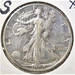 1928-S WALKING LIBERTY XF+