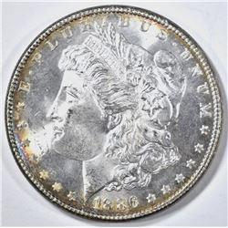 1886 MORGAN DOLLAR GEM BU NICE RIM TONE