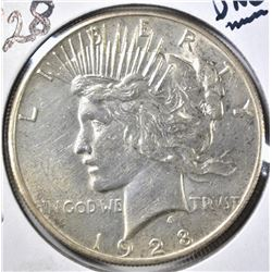 1928 PEACE DOLLAR, UNC  KEY DATE COIN