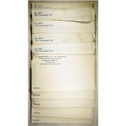 5-1972 & 5-73 U.S. MINT UNC SETS ORIG ENVELOPES