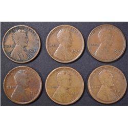 1915-P,D,S & 16-P,D,S LINCOLN CENTS