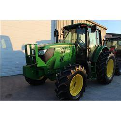 2014 JOHN DEERE 6105M FARM TRACTOR