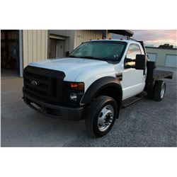 2008 FORD F550 FLATBED TRUCK