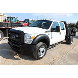 2015 FORD F550 FLATBED TRUCK