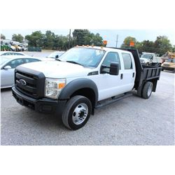 2014 FORD F550 FLATBED TRUCK