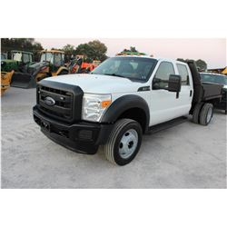 2015 FORD F450 FLATBED TRUCK