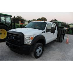 2013 FORD F450 FLATBED TRUCK