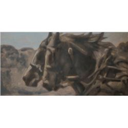Rob Stern, Two Horses 30x60