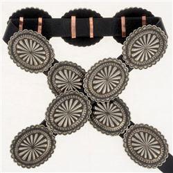 Native American Silver Concho Belt