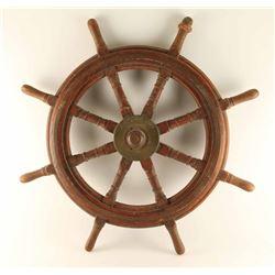 1915 British War Ship's Wheel