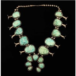 Magnificent Navajo Squash Blossom Necklace