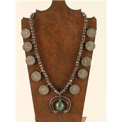 Navajo Standing Liberty Squash Blossom Necklace