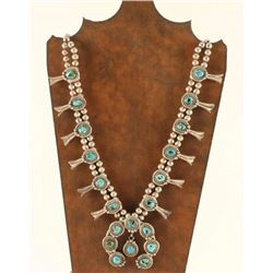 Traditional Navajo Sterling & Turquoise Squash