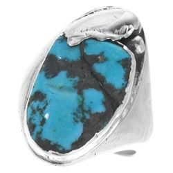 Native American Blue Turquoise Mens Ring