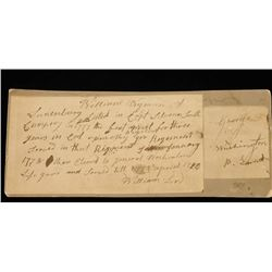 Soldier's Document from 1777