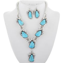 Navajo Turquoise Sterling Ladies Necklace