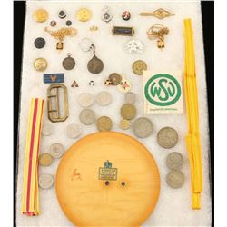 Lot of Misc. Coins & Insignia