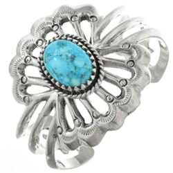 Native American Turquoise Ladies Silver