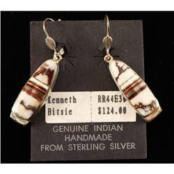 Sterling Silver & Wild Horse Earrings
