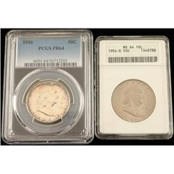 1950 & 1954-0 Franklin Half Dollar