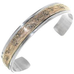 Navajo Silver Gold Unisex Cuff