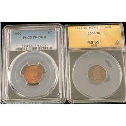 1902 & 1903 Indian Head Pennies