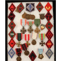 WWI & WWII Era Collection of French Army Medals