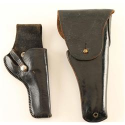 Collection of Two Black Leather Holsters