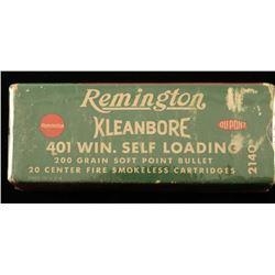 Remington Kleanbore .401 Win S.L. Ammo