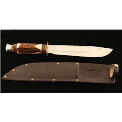 Stag Handled Hunting Knife