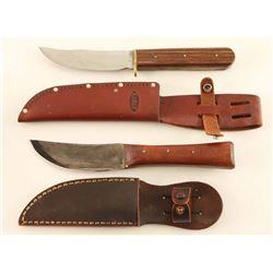 Lot of 2 Skinner Knives