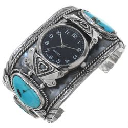 Old Pawn Navajo Turquoise Watch Cuff