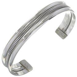 Navajo Indian Silver Unisex Bracelet