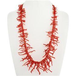 Navajo Mediterranean Branch Coral Necklace