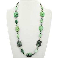 Green Chrysotine Onyx Navajo Necklace