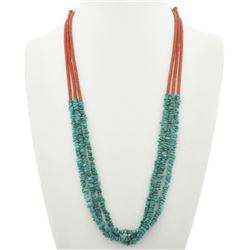 Navajo Turquoise 3 Strand Necklace