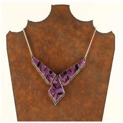 Sterling Inlaid Necklace by A Yazzie