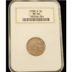 1938 D 5C Buffalo Nickel