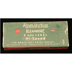 Remington Kleanbore 8mm Lebel Ammo
