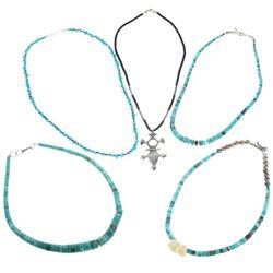 Lot of Five Ladies Vintage Necklaces