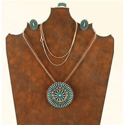 Zuni Turquoise & Sterling Set