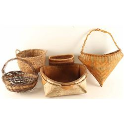 Lot of 5 Baskets