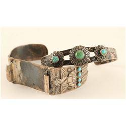 2 Navajo Cuff Bracelets